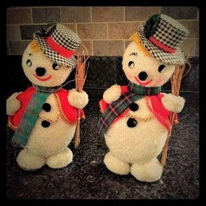 Pair of vintage 1960's Jestia snowmen